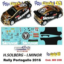 DECAL  1/43 -  FORD  FIESTA WRC Ev. 2016 - SOLBERG - Rally Portogallo 2016