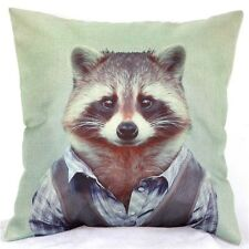 Home Decor Office Cotton Linen Raccoon Jeans Man Cushion Cover Pillow Sofa 45cm