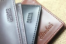 Men Leather Wallet with Personalized Name Engraving