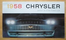 Chrysler orig 1958 usa marketing sales brochure-new yorker saratoga windsor
