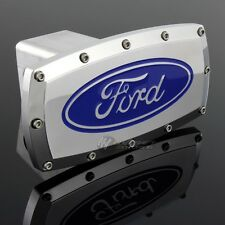 "FORD Hitch Cover Plug Cap 2"" Trailer Tow Receiver w/ ALLEN BOLTS DESIGN - BLUE"