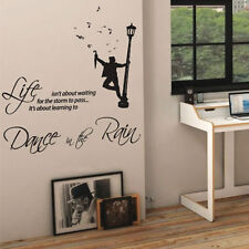 Dance in the rain music art mural citation autocollant mural décalcomanie mots lettrage 12