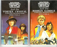 Vintage 1986 Doctor Who Role Playing Game (RPG) Paperback Book Set of 2-FASA