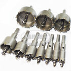 10pcs Carbide Tip TCT Drill Bits Hole Saw Set F Stainless Steel Metal Alloy 53mm