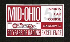 Mid-Ohio Sports Car Course 50th Anniversary Sticker, Vintage Sports Car Racing