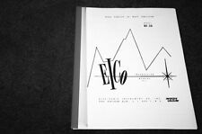 Eico HF-30 tube amplifier manual reprint