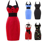 Lady Vintage Bandage Pinup Swing 50s 60s Gown Work Evening Slim Dress