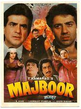 India Bollywood 1989 Majboor pressbook Mahesh Anand Asrani Prem Chopra