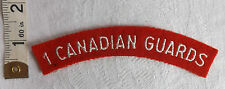 An Original WWII 1st Canadian Guards Cloth Shoulder Title Badge (273)