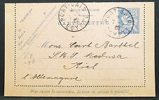 France Egypt Card Port-Said Germany 1908 GS Frankreich Ägypten Post (H-8081