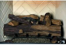 Emberglow Vented Oak Natural Gas Fireplace Logs Fire Log Set 24 in Remote Kit