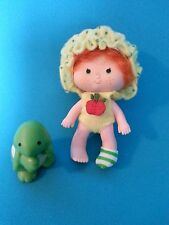 Vintage Strawberry Shortcake Doll Apple Dumplin with Tea Time Turtle Pet #1