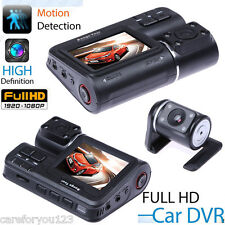 "HD Dual Lens 2"" Car DVR Dash Cam Vehicle Rearview Camera Video Recorder G-Sensor"