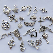 Wholesale 50g Vintage Antique Silver Mixed Charms Pendant Necklace DIY Making