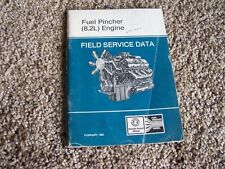 Detroit Diesel Engine Fuel Pincher 8.2L Field Service Data Specifications Manual