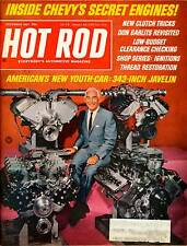 HOT ROD DEC 1967,JAVELIN 343,DON GARLITS,POLAR DRAGS,DECEMBER HOTROD MAGAZINE