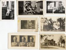 MISC. GROUP LARGE LOT OF PHOTOS 1840S OUTDOOR, FAMILY, BABIES, LADIES