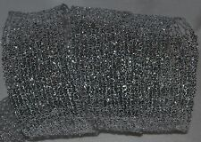 Wired Ribbon~Holiday Silver Metallic Tinsel Mesh~Expandable~Christmas~Wreath~Bow