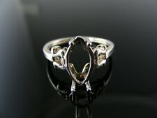 5560  RING SETTING STERLING SILVER, SIZE 5.5, 12X6 MM MARQUISE STONE