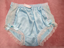 PRETTY BLUE SATIN/LACE SISSY PANTY XL size