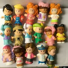 Random 10pcs Fisher Price Little People Construction Figures Baby Girl Boy Dolls