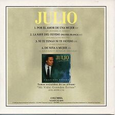 JULIO IGLESIAS ULTRA RARE SPANISH PROMO CD SAMPLER