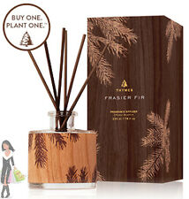 Thymes Frasier Fir Reed Diffuser. Northwoods Petite Wood Design. 3.4 Fl oz. NEW