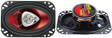"""2) New BOSS CH4620 4x 6"""" 200W 2 Way Car Coaxial Audio Speakers Stereo PAIR Red"""