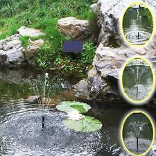 Solar Panel Power Submersible Fountain Pond Water Pump Garden Pool Watering JC3