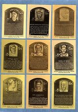 All 204 National Baseball Hall of Fame METAL Plaque-cards 1936-1989 complete set