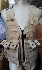 lot - FLC fighting load carrier + 2 x pouch,desert ,GENUINE U.S. MILITARY ISSUE