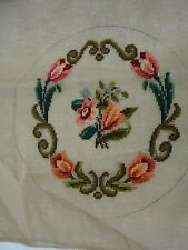 """C-36   Preworked Needlepoint tapestry 100 % cotton canvas  18"""" x 18"""""""
