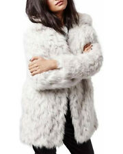 BNWT TOPSHOP SIZE 8-10 CREAM FAUX FUR SHAGGY LADIES JACKET WOMENS FLUFFY COAT
