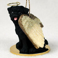 Pug Dog Figurine Guardian Angel Statue Black