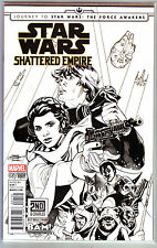 Marvel Star Wars SHATTERED EMPIRE #1 BAM 2NC Terry Dodson B&W Sketch Variant, NM