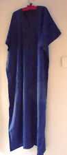 "MENS TRADITIONAL  DJELLABA / ROBE ~ NAVY ~ 72"" WIDE 54"" LONG"