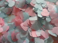 1500 Pink and Blue Hearts/Wedding/Celebration Confetti Decoration