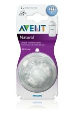 Philips Avent Natural Medium Flow Teat (3 mths +) (SCF653/27)