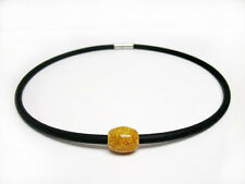 Silicone Negative Ion Necklace with Gold or Black Bead