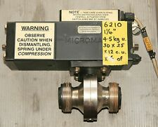 1.25 inch standard BSM  SS butterfly valve with MICROMATIC SWITCHED ACTUATOR