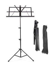 Metal Adjustable Sheet Music Stand Holder Folding Foldable WITH CARRY CASE BAG!