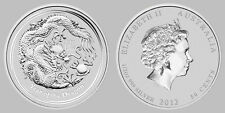 Australian Perth Mint Lunar 2012 Dragon half 1/2 oz .999 Silver Series 2 chinese