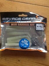 Savage gear mini sandeel kit 100mm X 8 - 4+4 paddle tail and pin tail +2 jighead