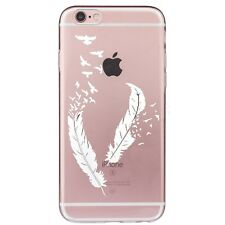 Clear Beauty Pattern Soft Silicone TPU Back Phone Cover Case For iPhone 5 5S SE