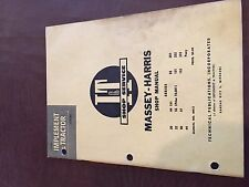I&T MASSEY HARRIS SHOP TRACTOR SERVICE MANUAL 20 102 22 44 81 101 82 30 55