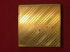 Vintage Richard Hudnut Compact Square New York Paris Made In USA 1940's