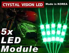 Crysta Vision LED for Motorcycle Light Strips Kit Engine-Bay Bright Green DC12V
