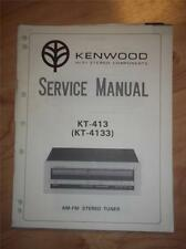 Kenwood Service Manual~KT-413/-4133 Tuner~Original Repair