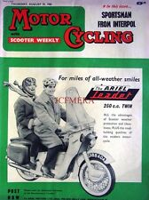 Aug 25 1960 ARIEL 'Leader 250cc Twin' Motor Cycle ADVERT - Magazine Cover Print