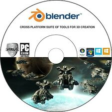 Blender 3D Animation Character Cartoon Design Modeling Software CD- TechGuy4U